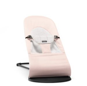 BABYBJORN Soft Balance Bouncer (Light Pink-Grey, Cotton-Jersey)